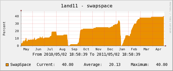 1and1 yearly swap space usage chart